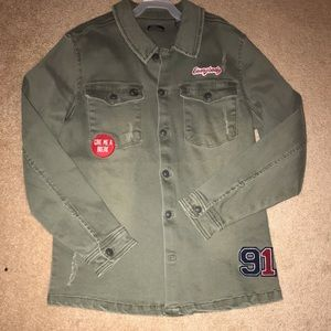 Silver Jeans Olive green jacket